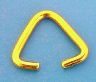 20 Gold plated 10mm Triangle Clamp Bails